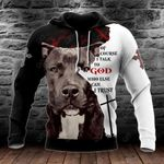 Pit Bull Terrier Of Course I Talk To God All Over Print Hoodies