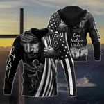 US Veteran One Nation Under God 3D All Over Print Hoodies