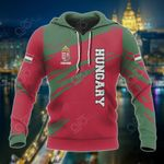 Customize Hungary Flag And Coat Of Arms Paint Style All Over Print Hoodies