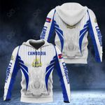 Cambodia Coat Of Arms Special Form All Over Print Hoodies