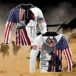 US Veteran Stand For The Flag Kneel For The Fallen - Jesus All Over Print Hoodies