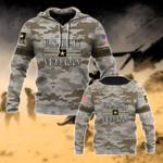 U.S.Army Veteran Camo All Over Print Hoodies