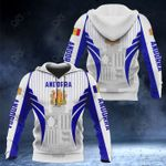 Andorra Coat Of Arms Special Form All Over Print Hoodies