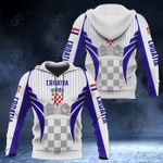 Croatia Coat Of Arms Special Form All Over Print Hoodies