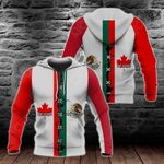 Canada My Home Mexican My Blood All Over Print Hoodies