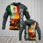 Mexico Rooster Flag All Over Print Hoodies