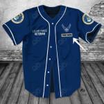 Customize U.S.Air Force Veteran Blue All Over Print Baseball Jersey Shirt