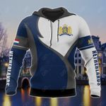 Netherlands Coat Of Arms Blue And White All Over Print Hoodies
