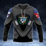 Cuba Coat Of Arms And Flag All Over Print Hoodies