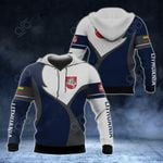 Lithuania Coat Of Arms Blue And White All Over Print Hoodies