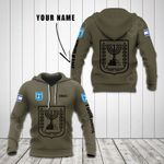 Customize Israel Coat Of Arms Hoodies