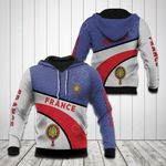 France Coat Of Arms Hexagon Pattern All Over Print Hoodies