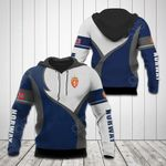 Norway Coat Of Arms Blue And White All Over Print Hoodies