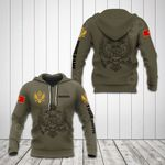 Customize Montenegro Coat Of Arms Hoodies