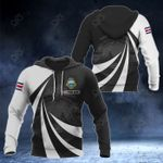 Customize Costa Rica Coat Of Arms Giant Print 3D All Over Print Hoodies