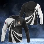 Customize Serbia Coat Of Arms Giant Print 3D All Over Print Hoodies