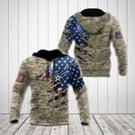 United States Air Force Flag 3D Camo All Over Print Shirts