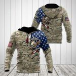 United States Marine Corps 3D Flag Camo All Over Print Shirts
