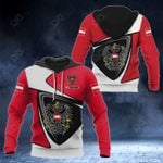 Customize Austria Coat Of Arms - Flag Color Version All Over Print Hoodies