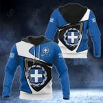 Customize Greece Coat Of Arms - Flag Color Version All Over Print Hoodies
