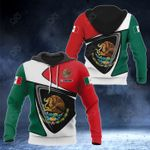 Customize Mexico Coat Of Arms - Flag Color Version All Over Print Hoodies