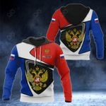 Customize Russia Coat Of Arms - Flag Color Version All Over Print Hoodies