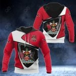 Customize Trinidad And Tobago Coat Of Arms - Flag Color Version All Over Print Hoodies