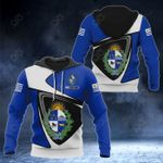 Customize Uruguay Coat Of Arms - Flag Color Version All Over Print Hoodies