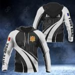 Customize Andorra Coat Of Arms Special Form 3D All Over Print Hoodies