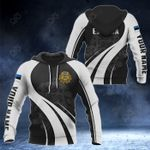 Customize Estonia Coat Of Arms Special Form 3D All Over Print Hoodies