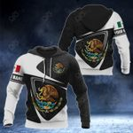 Customize Mexico Coat Of Arms Aztec 3D All Over Print Hoodies
