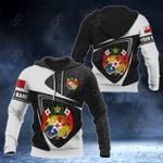 Customize Tonga Coat Of Arms Polynesian Patterns 3D All Over Print Hoodies
