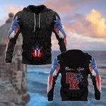Puerto Rico Coqui Flower Pattern All Over Print Hoodies