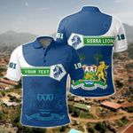 Customize Sierra Leone Coat Of Arms Lion All Over Print Polo Shirt