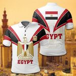 Egypt Coat Of Arms - White All Over Print Polo Shirt