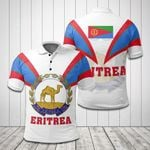 Eritrea Coat Of Arms And Flag - White All Over Print Polo Shirt