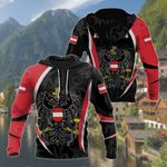 Austria Coat Of Arms Edelweiss All Over Print Shirts