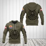 Customize French Polynesia Coat Of Arms Hoodies