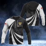 Customize Indonesia Coat Of Arms Giant Print 3D All Over Print Hoodies