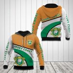 Ivory Coast Coat Of Arms Hexagon Pattern All Over Print Hoodies