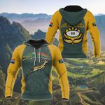 South Africa Flag Protea - Yellow All Over Print Hoodies