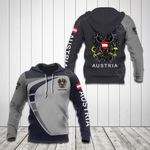 Customize Austria Coat Of Arms Sport Style All Over Print Hoodies