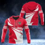 Customize Austria Flag Color New Style 3D Print All Over Print Hoodies