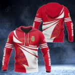 Customize Denmark Flag Color New Style 3D Print All Over Print Hoodies
