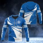 Customize Greece Flag Color New Style 3D Print All Over Print Hoodies