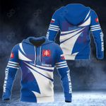 Customize Slovakia Flag Color New Style 3D Print All Over Print Hoodies