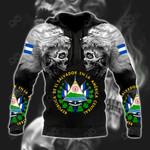 El Salvador Wolf Skull All Over Print Hoodies