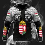 Hungary Wolf Skull All Over Print Hoodies