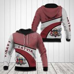 Latvia Coat Of Arms Hexagon Pattern All Over Print Hoodies