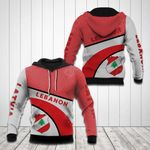 Lebanon Coat Of Arms Hexagon Pattern All Over Print Hoodies